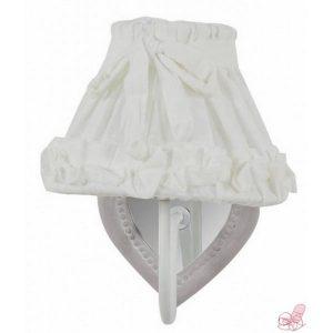 applique decoro cuore con cappello in lino bianco