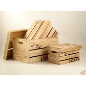 bauletto in legno naturale