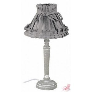 lampada cappello stoffa grigio