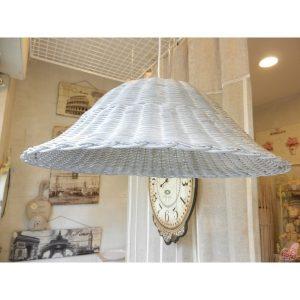 lampadario in midollino grigio chiaro decape