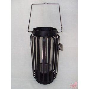 lanterna in ferro con bicchiere vetro sia