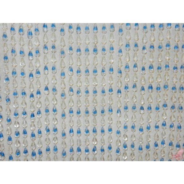tenda plastica goccia blu cm