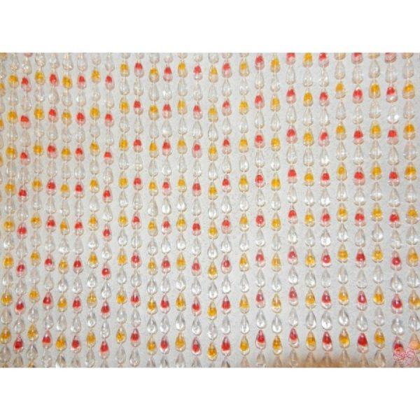 tenda plastica goccia rosso arancione cm