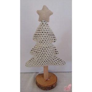 albero di natale in lana con base