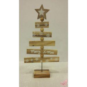 albero di natale stilizzato in legno