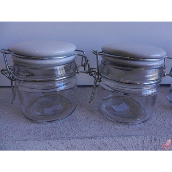 barattolo vetro con tappo meccanico in ceramica