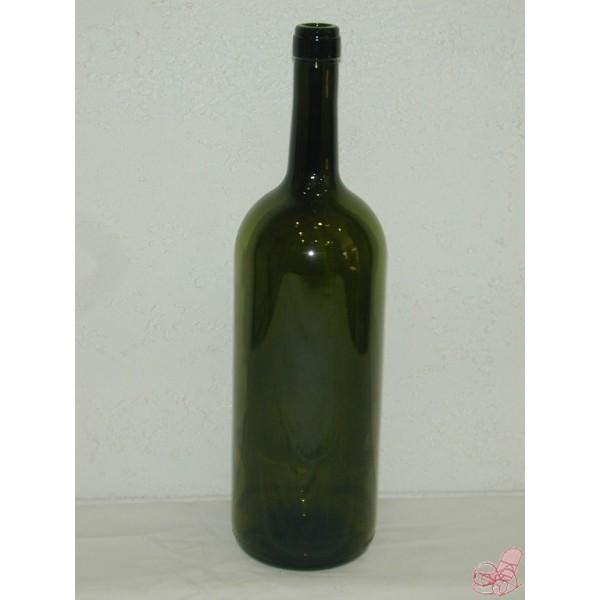 bottiglia bordolese da  lt vetro verde scuro