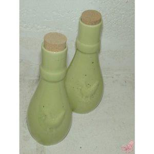bottiglietta olio aceto in ceramica verde