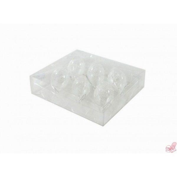 box  palline con punta in vetro trasparente