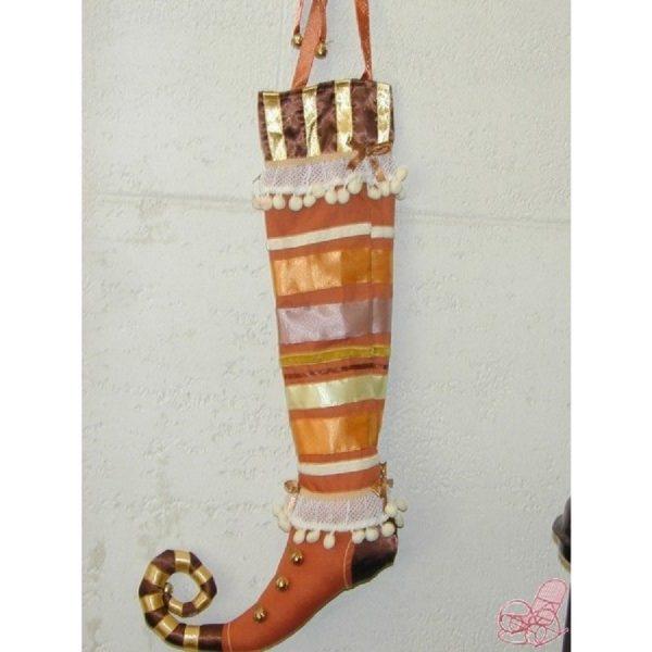 calza in cotone e raso colore miele