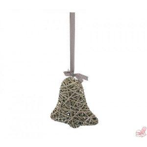 campana intrecciata grigia con fiocco