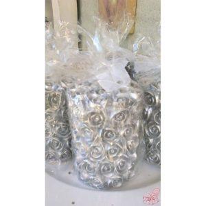 candela rose argento piccola