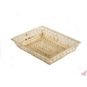 cestino in rattan e bambu naturale