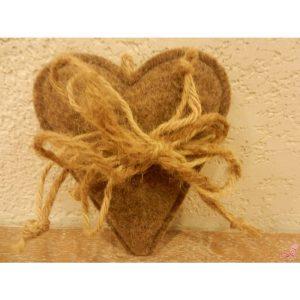 cuore marrone piccolo con gancioRTWET