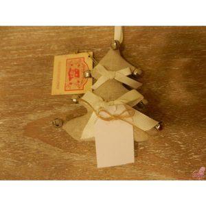 decorazione albero di natale con campanellini porta messaggio