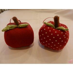 decorazione da appendere mela patchwork