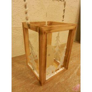 lanterna in legno e metallo grande