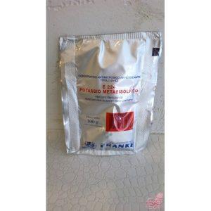 metabisolfito di potassio gr