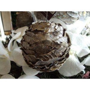 palla foglie argentate piccola sia
