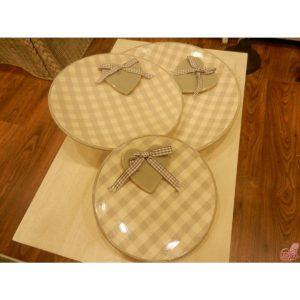 piatto ceramica con cuore applicato misura grande