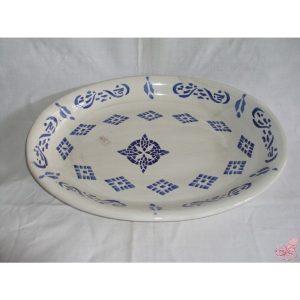 piatto ceramica ovale