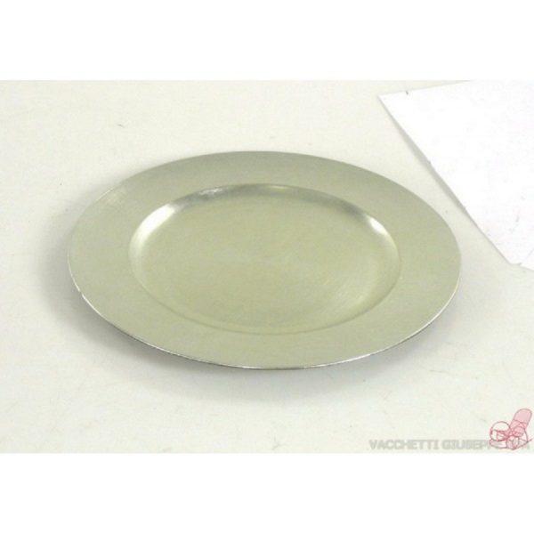 piatto plastica tondo argento