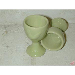 portauovo in ceramica verde decoro gallina