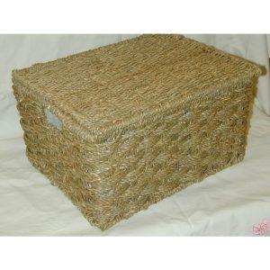 scatola in corda e telaio in ferro foderata