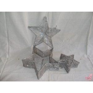 set  scatole stella argento
