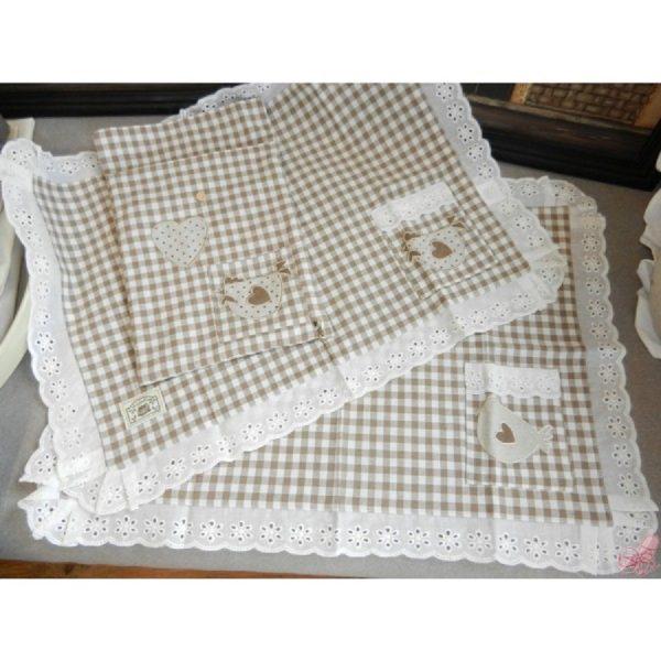 set  tovagliette americane in bag gallo beige