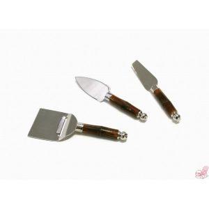 set  coltelli formaggio manici bambu
