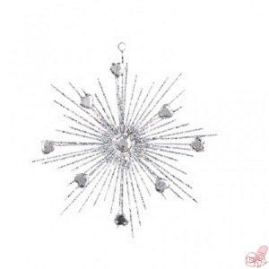 stella argento glitter da appendere