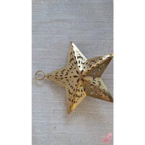 stella in metallo dorato traforata da appendere