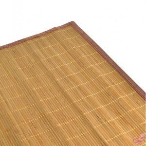 tappeto bambu color miele bacchette sottili