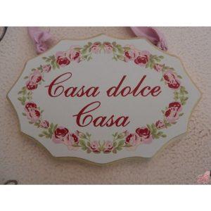 targhetta legno da appendere decoro rose rosa ti voglio bene