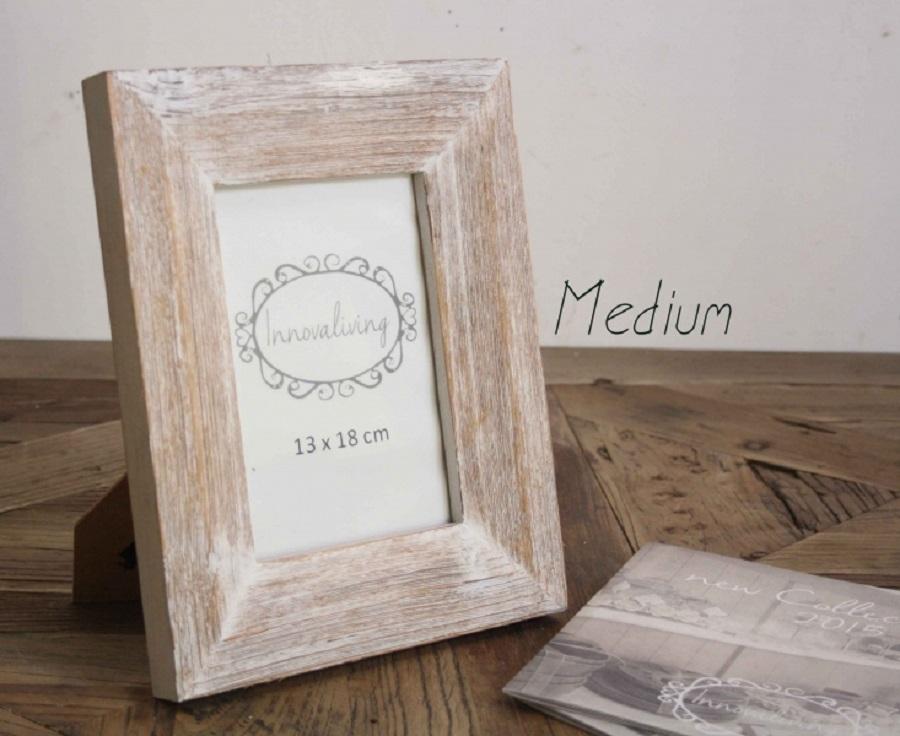 Portafoto da tavolo in legno sbiancato cestenolvetri - Portafoto da tavolo ...