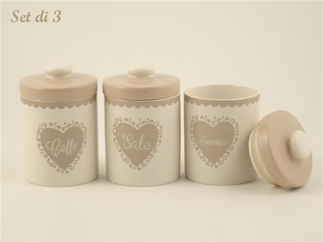 Barattolo in ceramica Caffe\' - Sale - Zucchero - Cestenolvetri