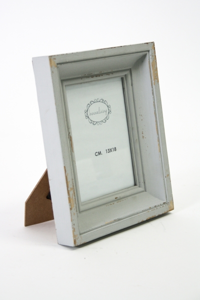 Portafoto da tavolo in legno grigio decapato cestenolvetri - Portafoto da tavolo ...
