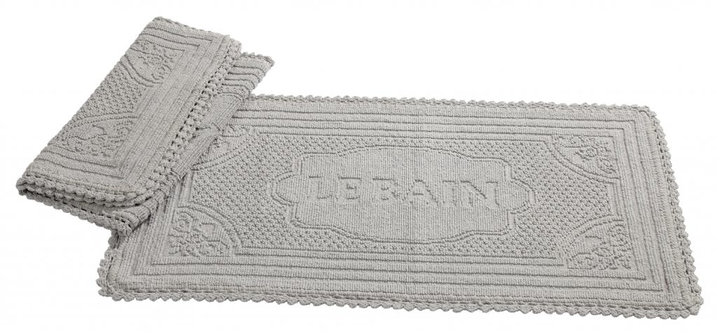 Tappeto jacquard le bain grigio chiaro 50x100 - Tappeto grigio chiaro ...
