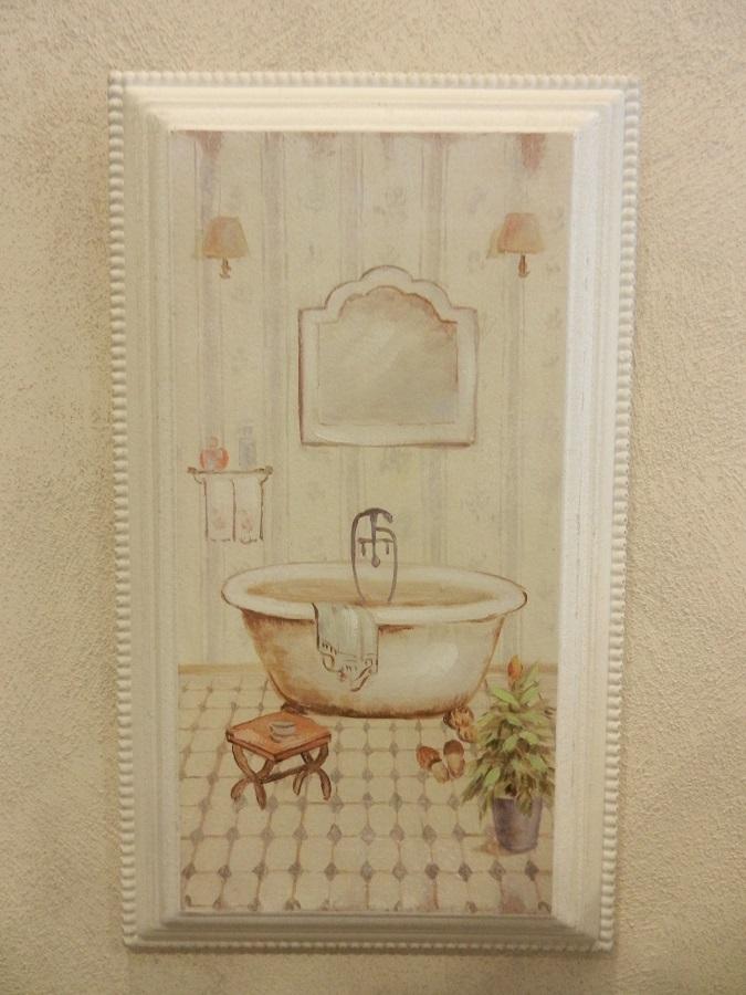 Quadro sala da bagno con cornice - Cestenolvetri