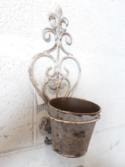 Portavaso da parete in ferro cestenolvetri - Portavaso da parete ...